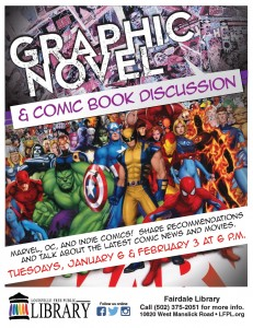 Graphic novel discussion flyer Jan- Feb