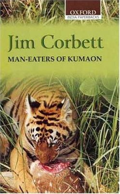cover of a new edition of man-eaters of kumaon.