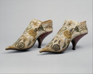 Women's fancy brocade shoes.