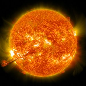 The sun, producing a Coronal Mass Ejection.