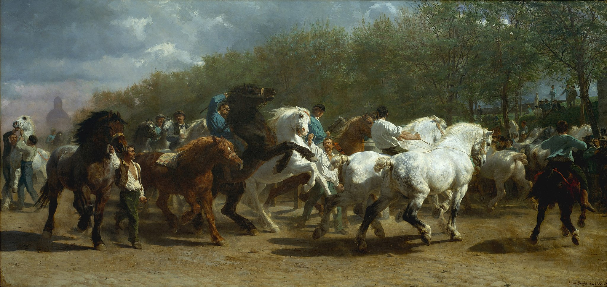Picture of Rosa Bonheur's The Horse Fair