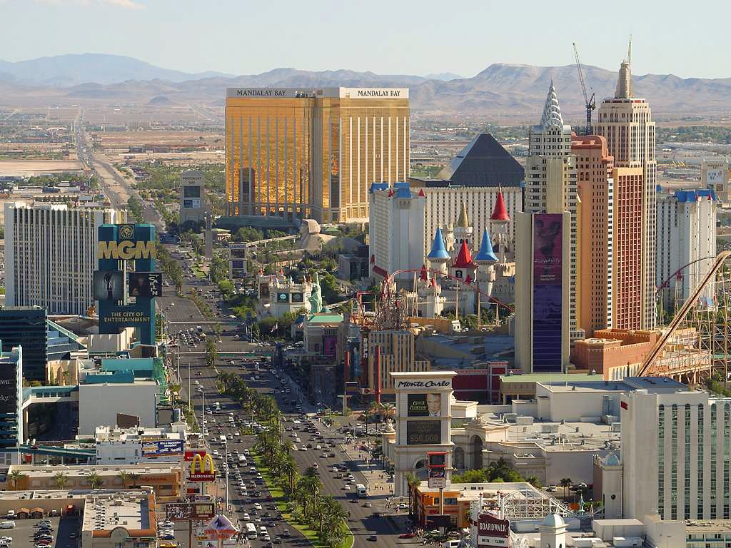 a view of the Vegas strip in 2011. Reasonably recent.