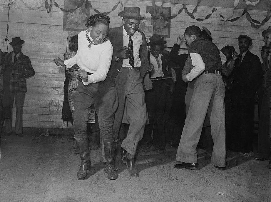 Dancers at a juke joint, 1939.