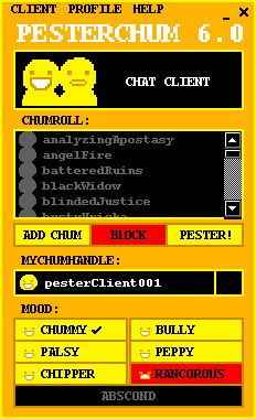 pesterchum interface