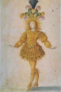 Louis XIV as Apollo. Ballet costume.