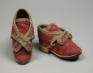 Children's shoes, could be worn by girls or boys.