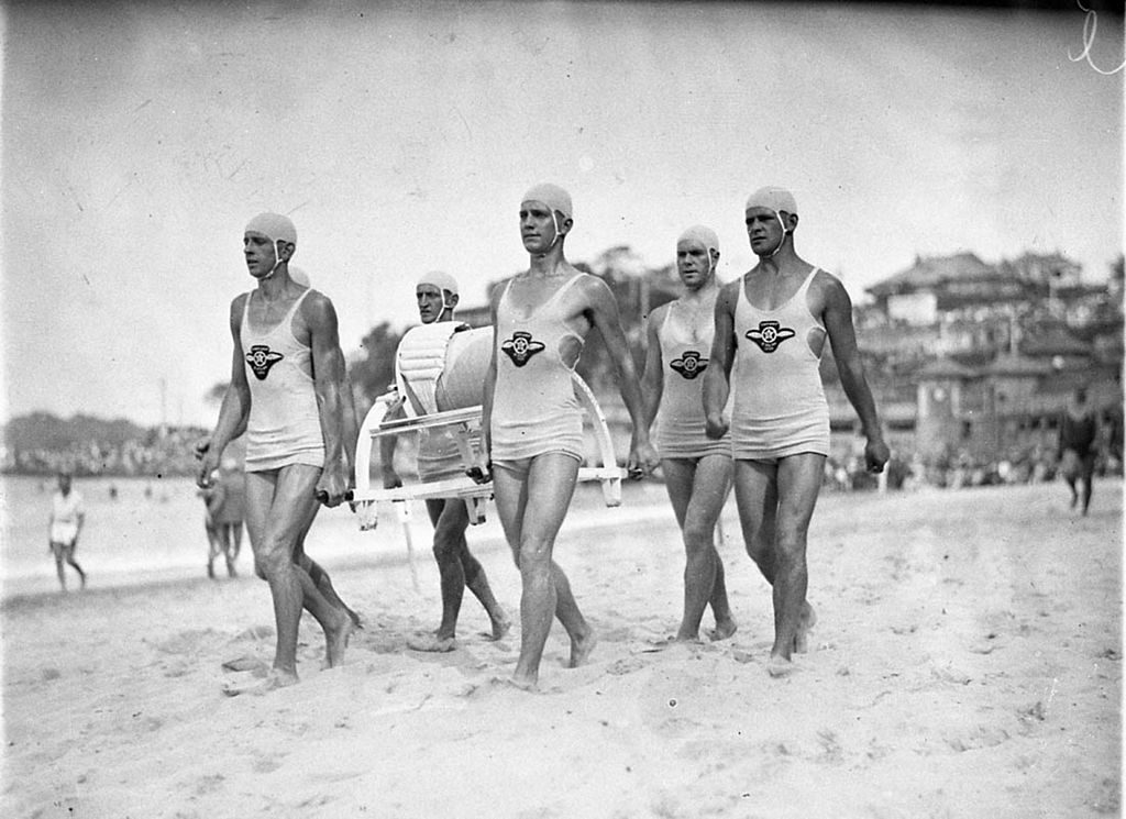 A team of Aussie lifeguards, from about 1930.