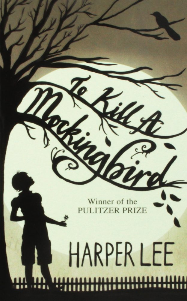 Black and white cover of To Kill A Mockingbird by Harper Lee